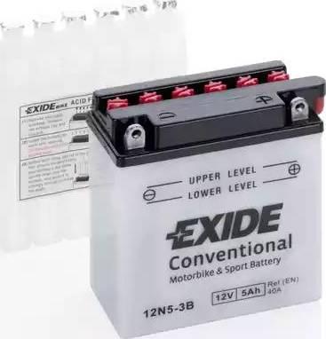 Exide 12N53B - Стартерная аккумуляторная батарея autodif.ru