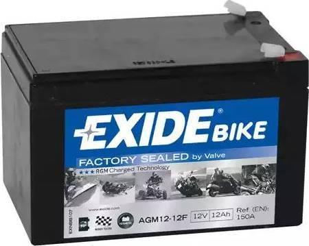Exide AGM127F - Стартерная аккумуляторная батарея autodif.ru