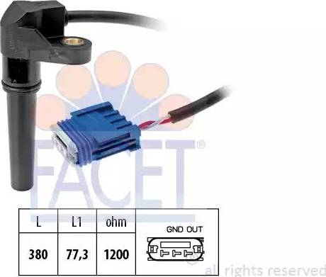 FACET 90618 - Датчик частоты вращения, автоматическая коробка передач autodif.ru
