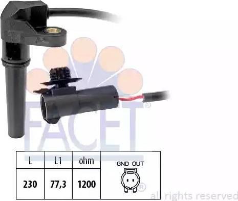 FACET 9.0617 - Датчик частоты вращения, автоматическая коробка передач autodif.ru