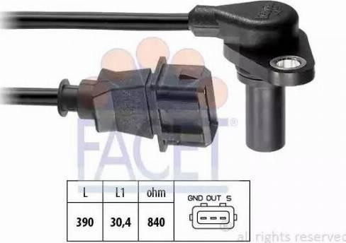 FACET 90204 - Датчик частоты вращения, автоматическая коробка передач autodif.ru