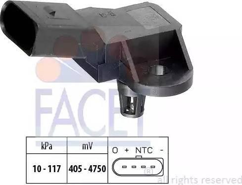 FACET 103090 - Датчик, давление выхлопных газов autodif.ru
