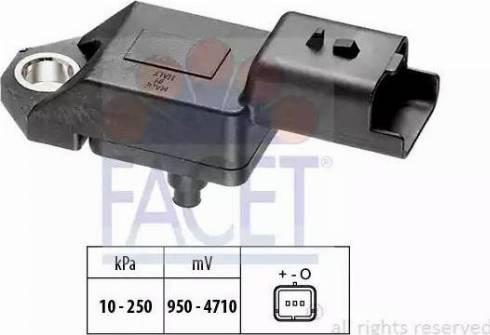 FACET 103034 - Датчик, давление выхлопных газов autodif.ru