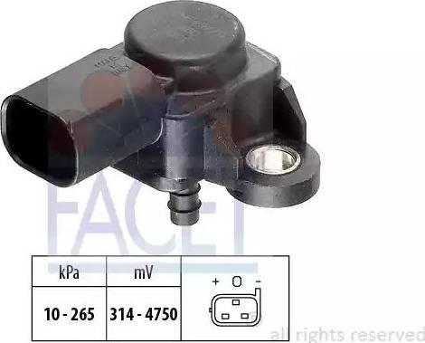 FACET 10.3102 - Датчик, давление выхлопных газов autodif.ru