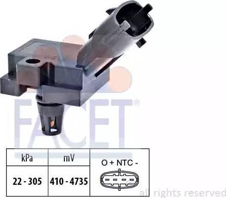 FACET 103186 - Датчик, давление выхлопных газов autodif.ru