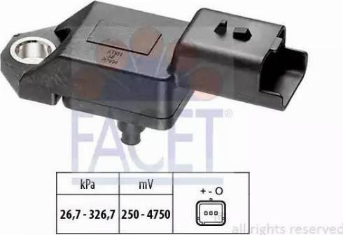 FACET 103136 - Датчик, давление выхлопных газов autodif.ru