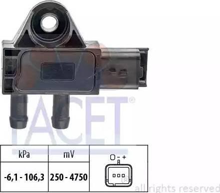 FACET 10.3271 - Датчик, давление выхлопных газов autodif.ru