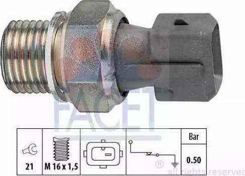 FACET 7.0116 - Датчик давления масла autodif.ru