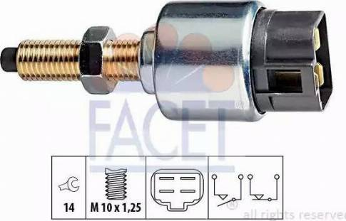 FACET 7.1044 - Выключатель, привод сцепления (Tempomat) autodif.ru