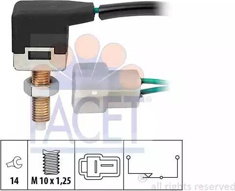 FACET 71057 - Выключатель, привод сцепления (Tempomat) autodif.ru