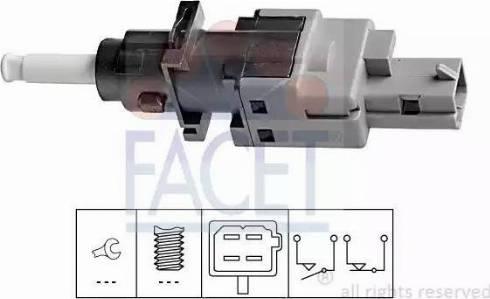 FACET 71196 - Выключатель, привод сцепления (Tempomat) autodif.ru