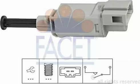 FACET 7.1152 - Выключатель, привод сцепления (Tempomat) autodif.ru