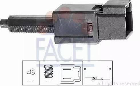 FACET 7.1165 - Выключатель, привод сцепления (Tempomat) autodif.ru
