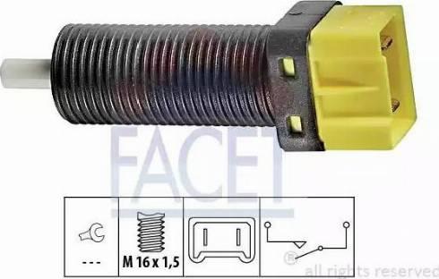 FACET 7.1134 - Выключатель, привод сцепления (Tempomat) autodif.ru