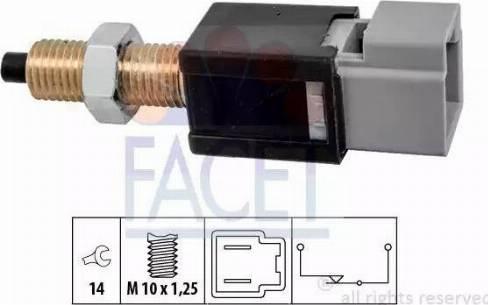 FACET 7.1304 - Выключатель, привод сцепления (Tempomat) autodif.ru