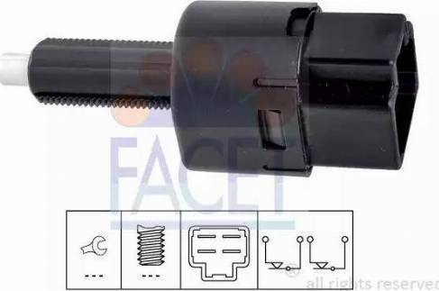 FACET 7.1202 - Выключатель, привод сцепления (Tempomat) autodif.ru