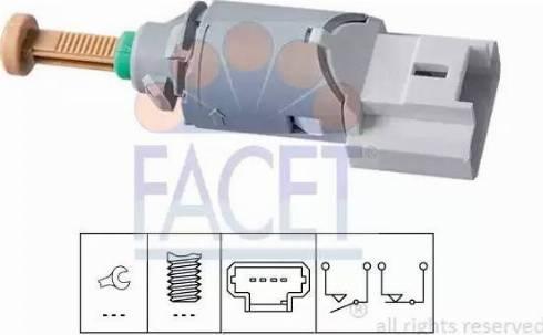 FACET 7.1227 - Выключатель, привод сцепления (Tempomat) autodif.ru