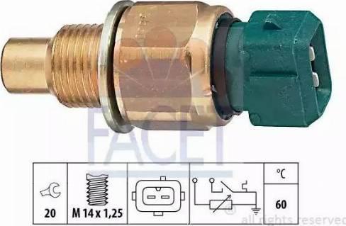 FACET 73560 - Датчик, температура охлаждающей жидкости autodif.ru