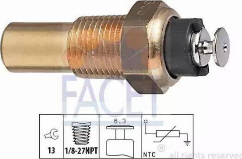 FACET 7.3005 - Датчик, температура охлаждающей жидкости autodif.ru