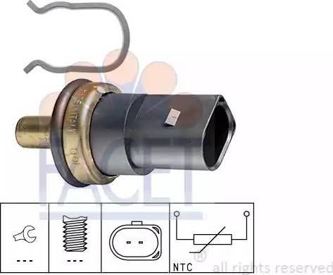 FACET 7.3278 - Датчик, температура охлаждающей жидкости autodif.ru