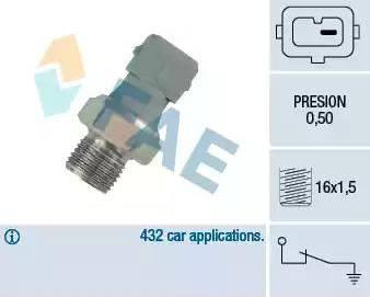 FAE 12460 - Датчик давления масла autodif.ru