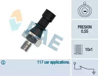 FAE 12436 - Датчик давления масла autodif.ru