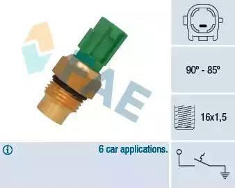 FAE 36711 - Термовыключатель, вентилятор радиатора autodif.ru