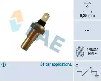 FAE 31390 - Датчик, температура охлаждающей жидкости autodif.ru
