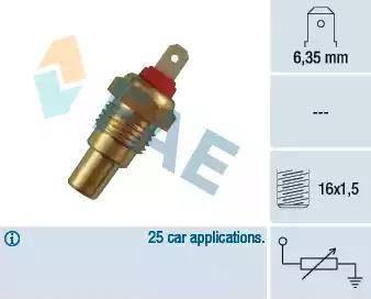 FAE 31330 - Датчик, температура охлаждающей жидкости autodif.ru