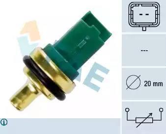 FAE 33706 - Датчик, температура охлаждающей жидкости autodif.ru