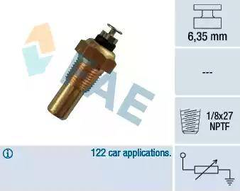FAE 32070 - Датчик, температура охлаждающей жидкости autodif.ru