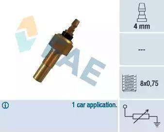 FAE 32140 - Датчик, температура охлаждающей жидкости autodif.ru