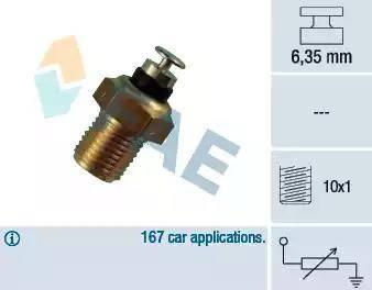 FAE 32110 - Датчик, температура охлаждающей жидкости autodif.ru