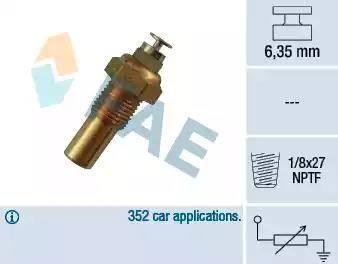 FAE 32230 - Датчик, температура охлаждающей жидкости autodif.ru