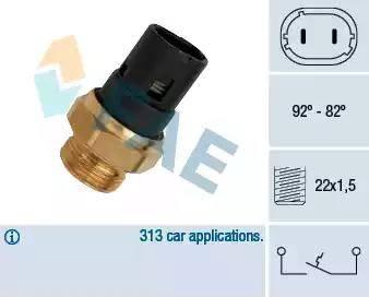 FAE 37250 - Термовыключатель, вентилятор радиатора autodif.ru