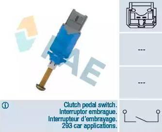 FAE 24901 - Выключатель, привод сцепления (Tempomat) autodif.ru