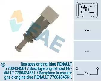 FAE 24891 - Выключатель, привод сцепления (Tempomat) autodif.ru