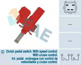 FAE 24835 - Выключатель, привод сцепления (Tempomat) autodif.ru