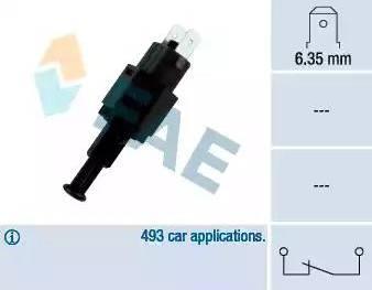 FAE 24310 - Выключатель фонаря сигнала торможения autodif.ru