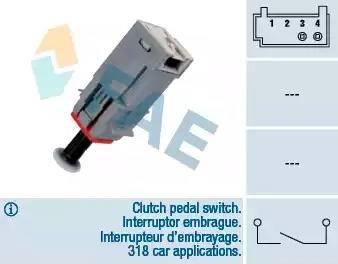 FAE 24790 - Выключатель, привод сцепления (Tempomat) autodif.ru