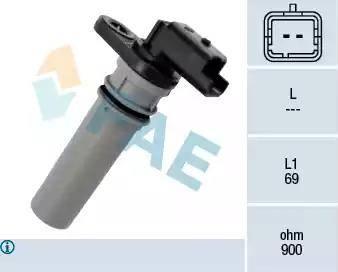 FAE 79256 - Датчик частоты вращения, автоматическая коробка передач autodif.ru
