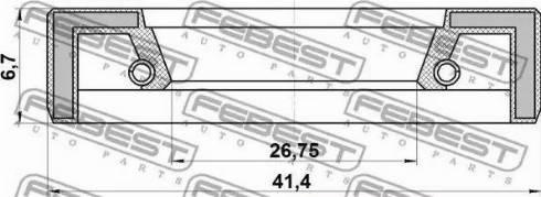Febest 95FAY28410707X - Ремкомплект, рулевой механизм autodif.ru