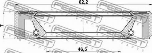 Febest 95GBY48620707R - Уплотняющее кольцо, дифференциал autodif.ru
