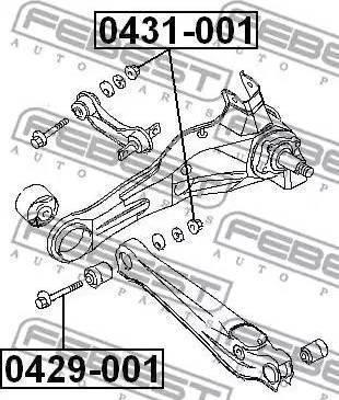 Febest 0429001 - Болт регулировки развала колёс autodif.ru