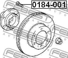 Febest 0184-001 - Болт крепления колеса autodif.ru