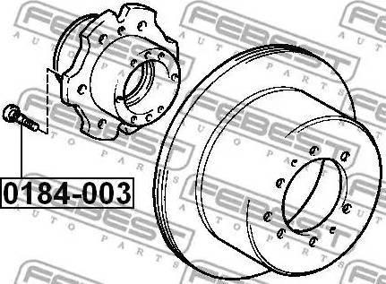Febest 0184-003 - Болт крепления колеса autodif.ru