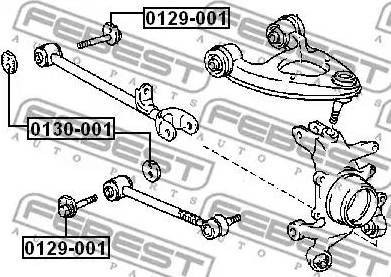 Febest 0129001 - Болт регулировки развала колёс autodif.ru