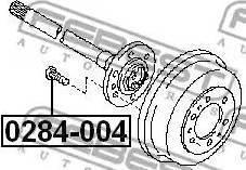 Febest 0284-004 - Болт крепления колеса autodif.ru