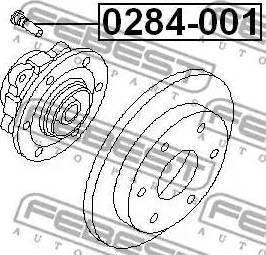 Febest 0284-001 - Болт крепления колеса autodif.ru
