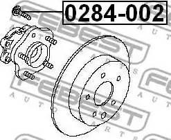 Febest 0284-002 - Болт крепления колеса autodif.ru